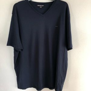 Michael Kors Navy Blue V-Neck Short Sleeve Tee
